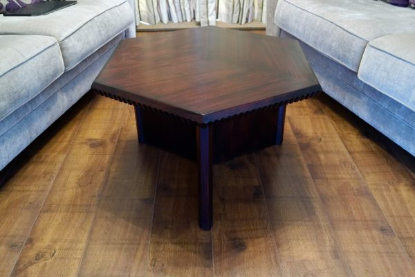 Hexagonal coffee table front on