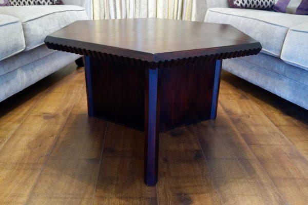 Hexagonal coffee table