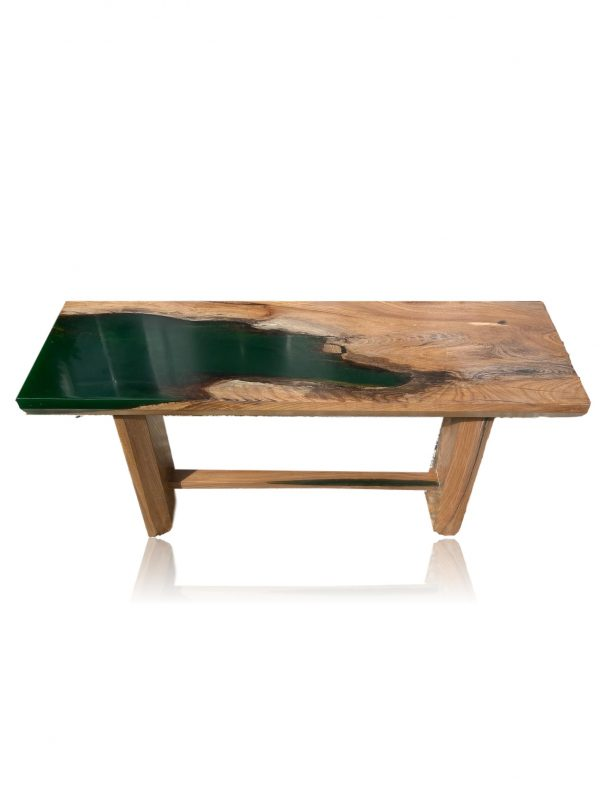 Emerald Green Hall Bench - Front on with no Background
