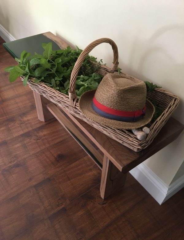 Emerald Coast Hall Bench - with Herbs and Hat