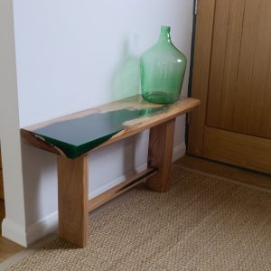 Emerald Coast Hall Bench with Bag and Flask