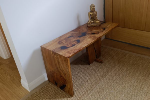 Burr Elm Waterfall Table with Figure