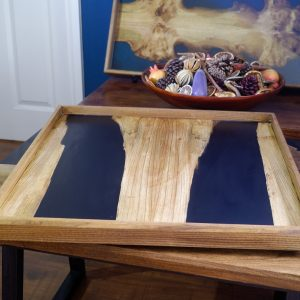 View of ottoman tray sitting on coffee table