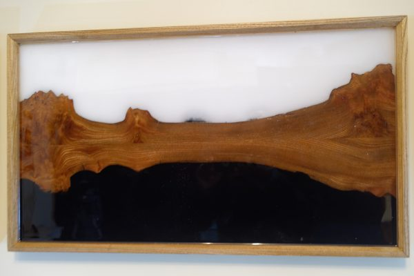 Panel 2 of Triptych showing Wood and Resin