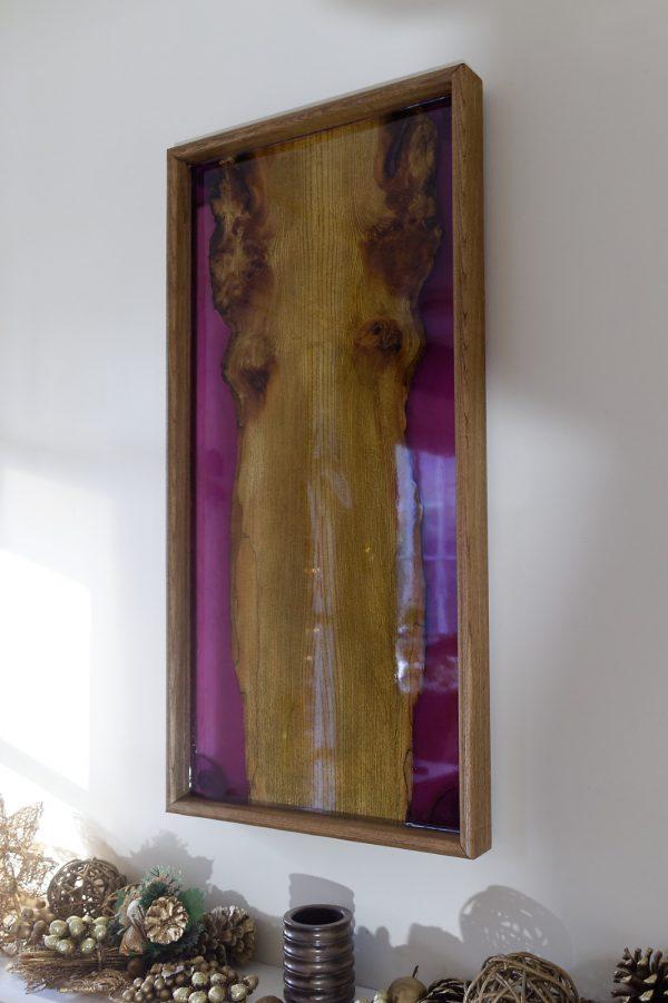 Elm and Purple Resin Wall Art
