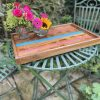 Elm Tray with Pink and Turquoise Resin