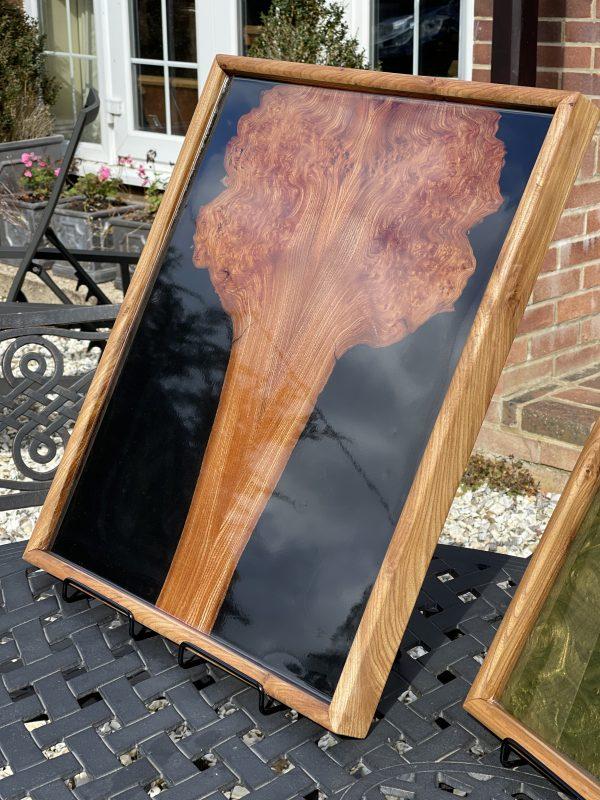 Wall art - elm and black resin
