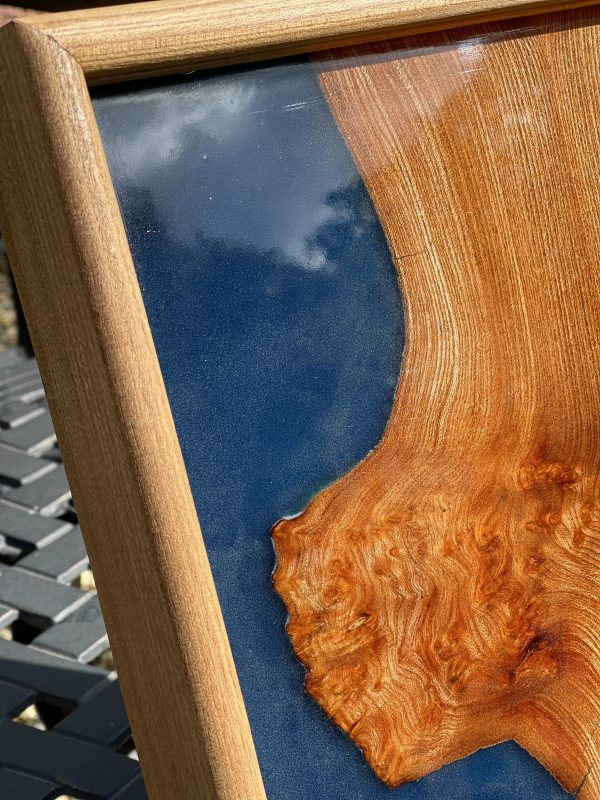 Corner of a blue resin and burr elm try