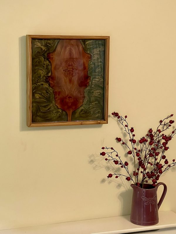 Oakleaf and Acorn Wall Hanging with Vase